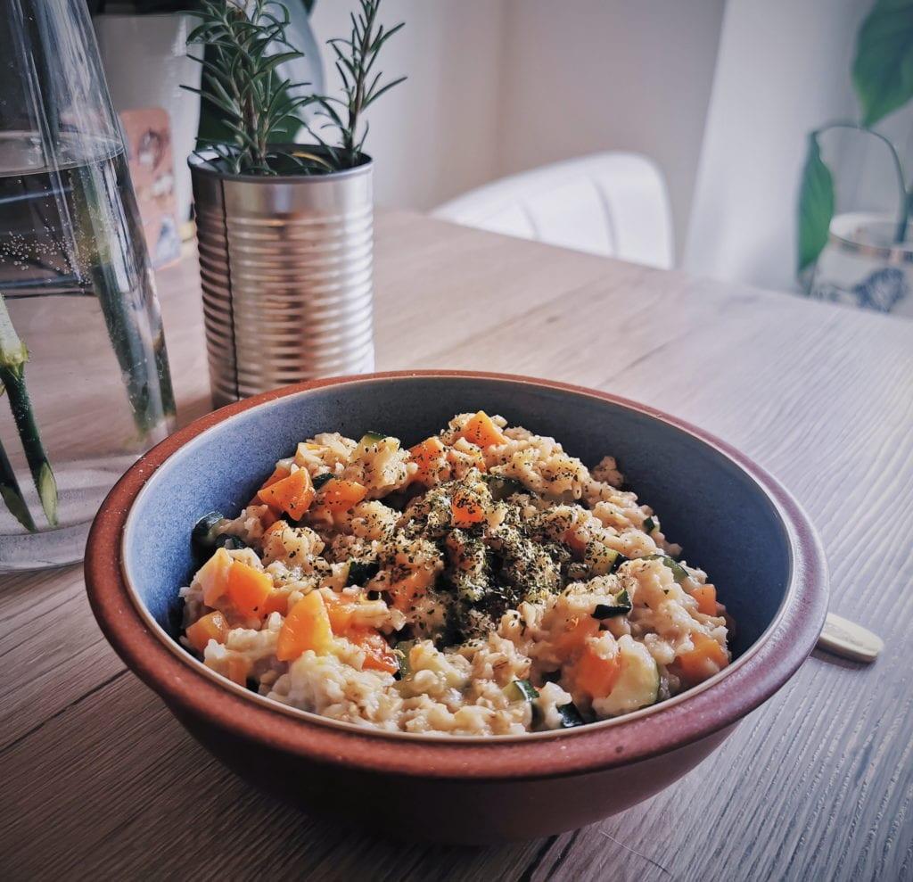 Gemüse Porridge vegan